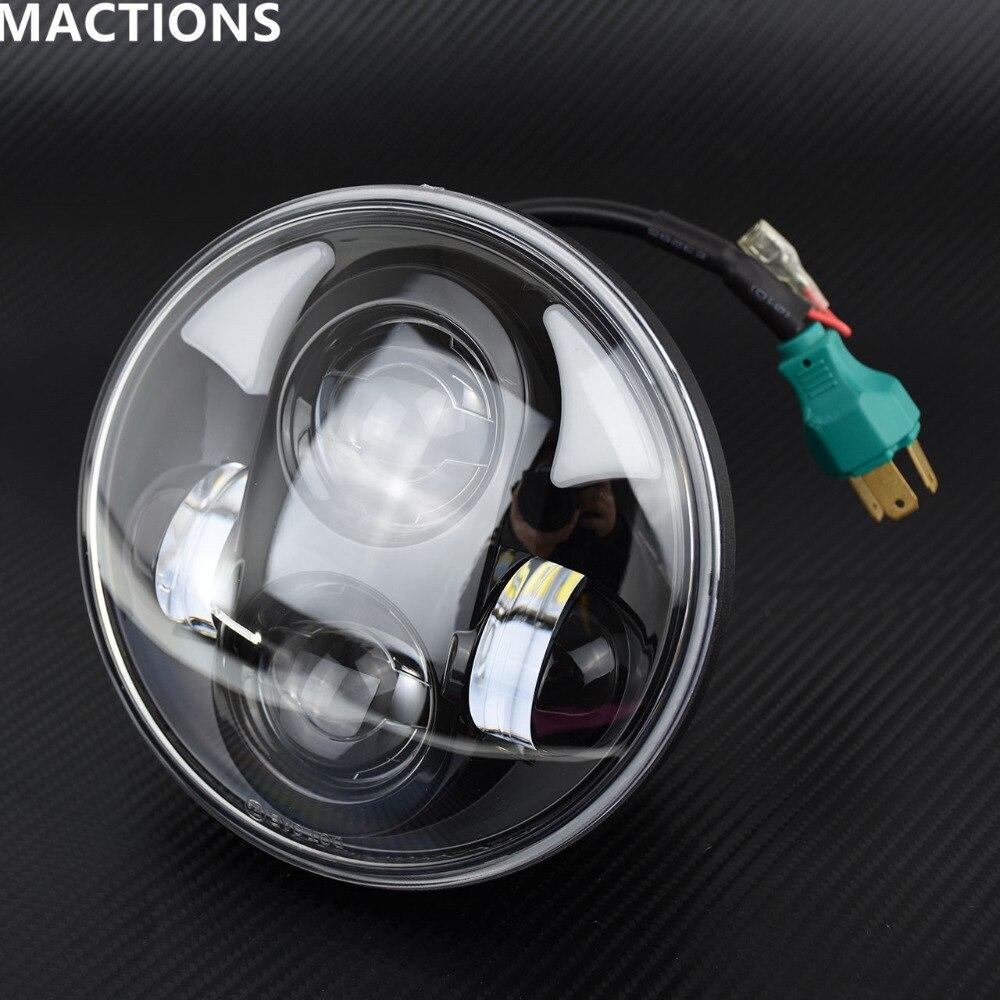 Wrangler 5.75 pouces sans phares yeux d'ange/phare de moto/phare de LED