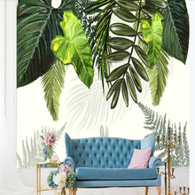Custom wallpaper Nordic tropical leaves banana small fresh background wall waterproof material