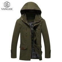 VanGise 2017 Autumn Winter Jacket Coat Men's Warm Trench Coat New Arrival Warm parka Slim Fit Casual Zipper With Hap Plus Size