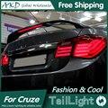 AKD Car Styling para Chevrolet Cruze Luzes Da Cauda BMW Design 2012 Cruze LEVOU Cauda Lâmpada Traseira Luz DRL + Freio + parque + Sinal