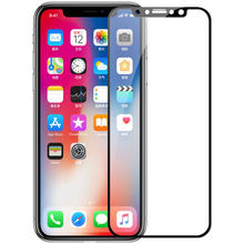 3D Full Cover Tempered Glass For iPhone X XS XR MAX glass Screen Protector(China)