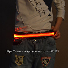 New Design Led Colorful Belt Stage Wear Event Party Supplies Led Party Belt Led Bicycle Jogger Runway Girdle Gift