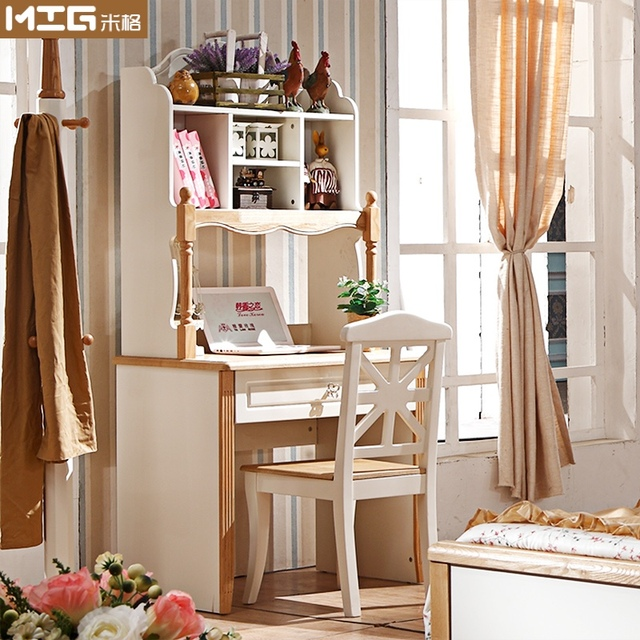 American Children S Furniture Small Apartment Simple Rectangular Wood Bookcase Desk Computer Combination 80c Learning Table