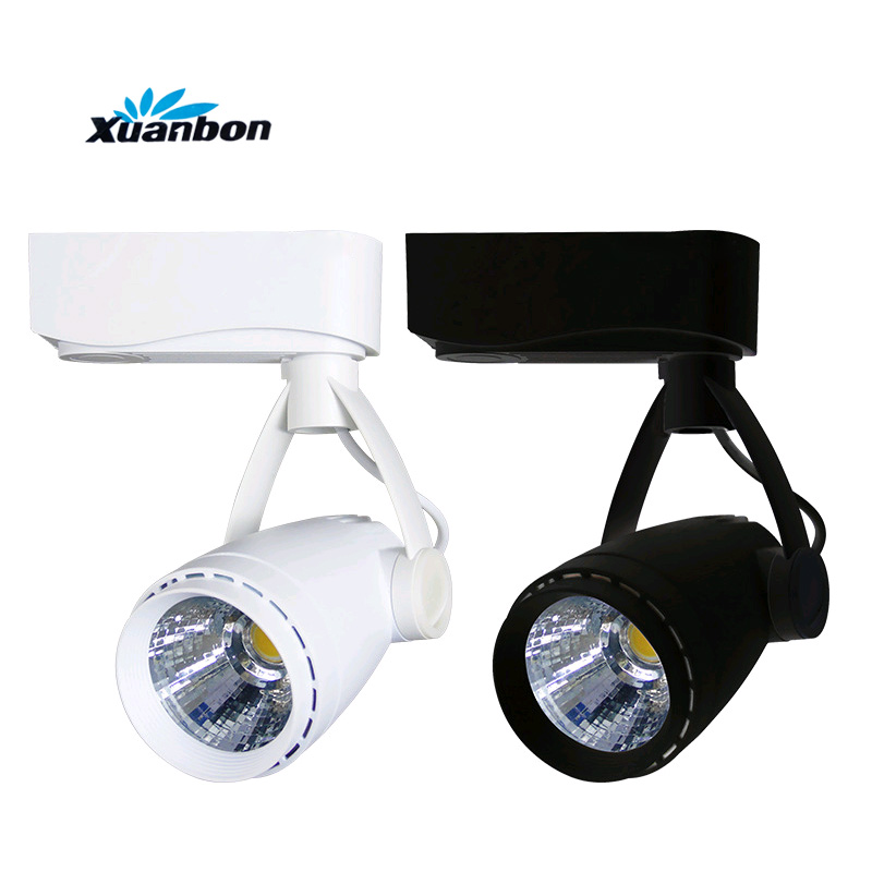 Dimmable 5 W 7 W 9 W LED luz de la pista tienda de ropa Windows Showrooms exposición proyector LED COB techo lámpara del punto AC110V220V
