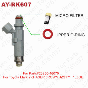 10sets Fuel Injector Repair Kits For Toyota Mark 2 Chaser JZX100/110 Crown JZS171 1JZGE Parts#23250-46070/23250-46080( AY-RK607) image