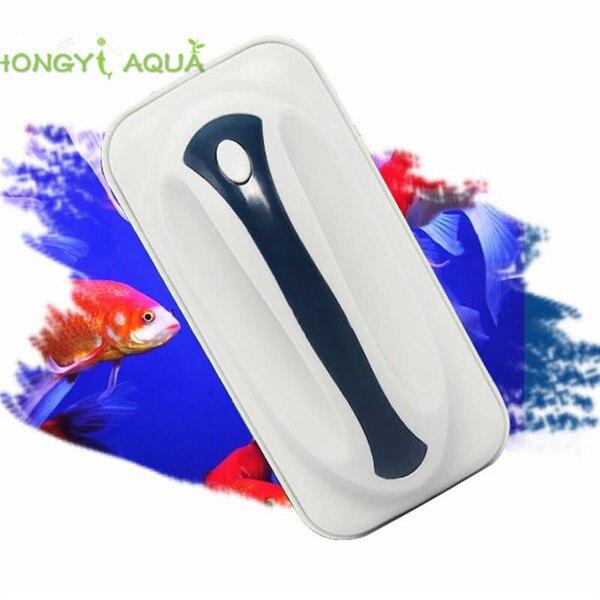 1 stück magneten starke magnetische pinsel für aquarium aquarium glas reinigungswerkzeug außer moos, algen 3 größen grau