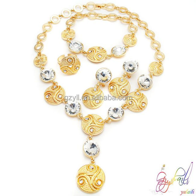 Free shipping 18k gold plated jewelry sets 2014 New design jewelry