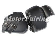 New PU Leather Motorcycle Luggage Saddle Bags Rider Motorbike cruiser tool bag SaddleBags for motor bike