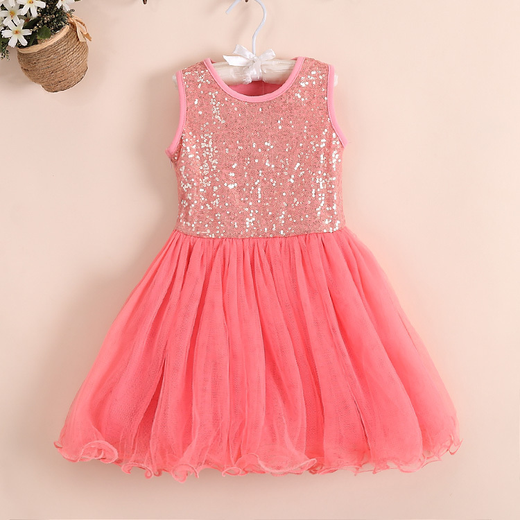 2014 Summer Sequin Baby Girl Dress Toddler Dancing Clothing For ...