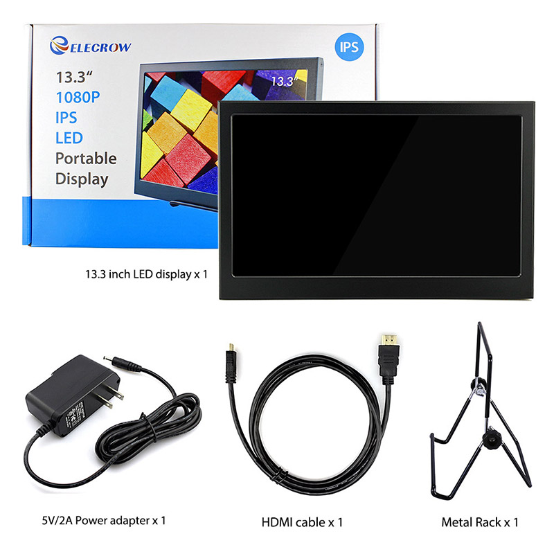 Image 5 - Elecrow 13.3 inch 1080P IPS Portable LED Display Dual HDMI Screen Computor Monitor for Raspberry Pi PS3 PS4 XBOX Gaming Devices-in LCD Modules from Electronic Components & Supplies
