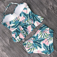 2018 Push Up Tankini Set Swimsuit Women Swimwear Plus Two Piece Suits Print Bathing Suit Beach Wear Swim Maillot De Bain Female