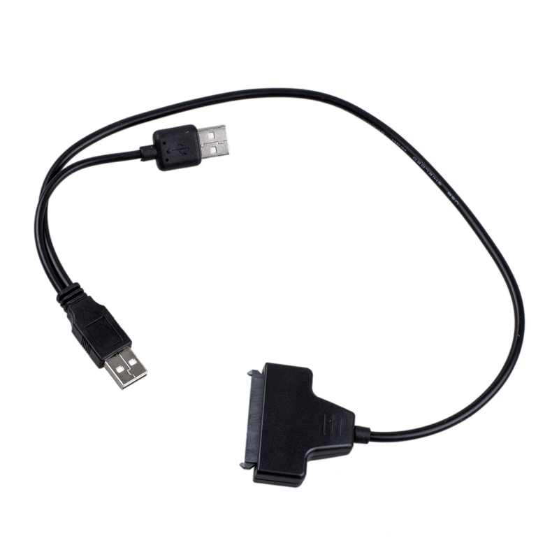 "USB 2.0 To SATA Serial ATA 15+7 22P Adapter Cable For 2.5"" HDD Laptop Hard Drive"