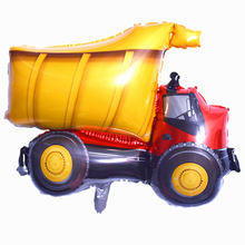 1pcs Babyshower Kids Decor Balloons Construction Vehicle Alu
