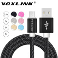 VOXLINK Nylon Braided Micro USB Cable 1m/2m/3m Data Sync USB Charger Cable For Samsung HTC LG huawei xiaomi Android Phones
