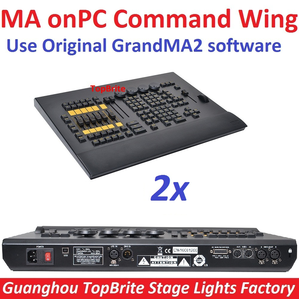 2xLot MA onPC Command Wing DMX Console Control 2048 Parameter Extend to 4096 Parameter Fader Wing Professional GrandMA2 software