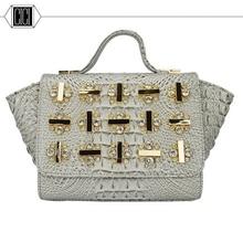 2016 new fashion women Diamonds handbag crocodile grain female bag single shoulder bag handbag