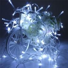 10M 100 LED String Lights Battery Powered LED Fairy Light Christmas Outdoor Wedding Party Decor Lamp Lights 4.5V Multicolor