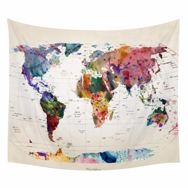 Home decor wall hanging world map tapestry indian mandala throw home decor wall hanging world map tapestry indian mandala throw blanket bedspread home dorm living room gumiabroncs Image collections