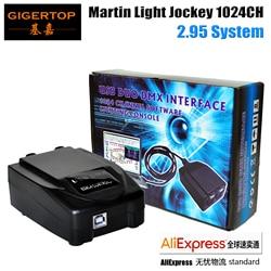 Tip top fabryka ekskluzywna wysprzedaż Martin Lightjockey 1024DMX kanał wysokiej jakości Lightjockey kontroler DMX 512*2 wejście DMX kanał w Oświetlenie sceniczne od Lampy i oświetlenie na