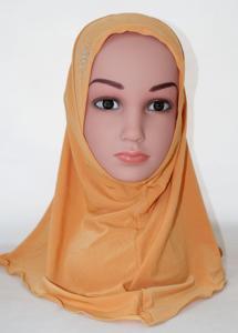 Image 5 - Kid Ragazze Islamico Arabo Musulmano Hijab Sciarpa Scuola di Strass Bambino Copricapi Abaya Nace Cofano Cofano Dello Scialle di Modo Velo