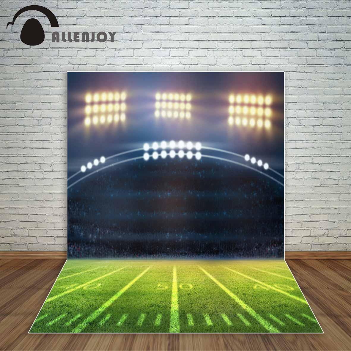 Allenjoy stadium and spotlight grassland American Football field backdrop camera photographic professional