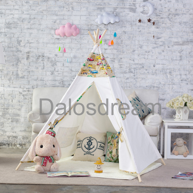 DalosDream Hotsell Indian Children Teepee Cars Designed Children Teepee Tent Natural Metarial Indoor Kids Teepees For & DalosDream Hotsell Indian Children Teepee Cars Designed Children ...