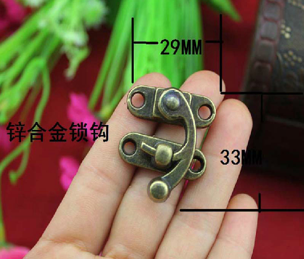 UNILOCKS 20Pcs Antique Brass Jewelry Box Hasp Latch Lock 29x33mm
