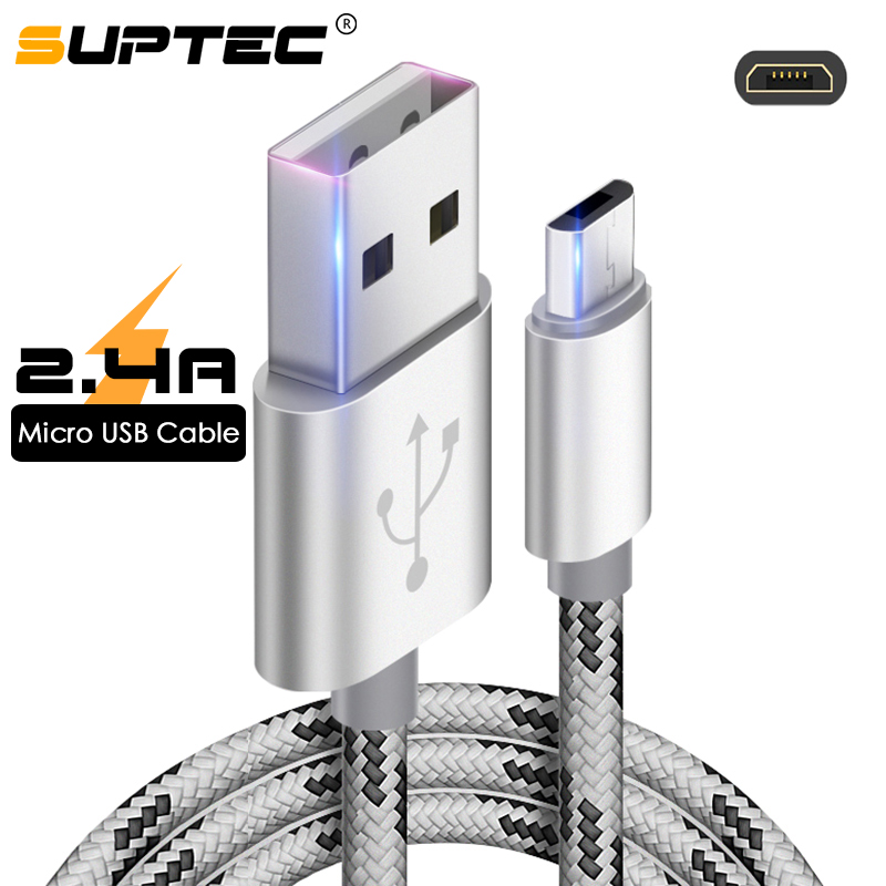 SUPTEC Micro USB Kabel Schnelle Lade Adapter für <font><b>Samsung</b></font> S7 S6 S5 <font><b>J5</b></font> J7 Xiaomi Huawei ZTE Android Handys Daten sync Ladegerät Kabel image