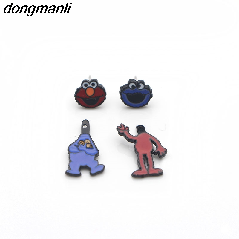 M1180 Dongmanli New Arrivel Cartoon Sesame Street Earring Toys Jewelry Ear Rings Eardrop Girl Women Kids Party Decoration Gifts