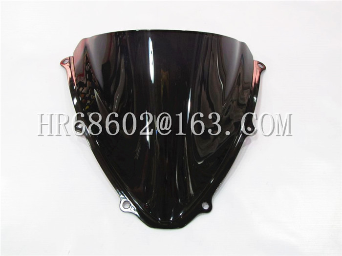 Freeshipping For Suzuki GSXR 600 750 R GSXR 600 750 R K6 2006 2007 K6 06 07 Sort Vindskærm WindScreen Dobbelt Boble