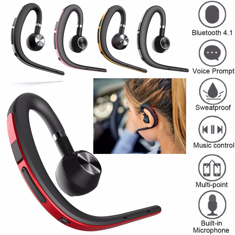 Bluetooth Headphone Bluetooth Headset Noise Canceling Earphone Stereo Earpiece For Android IOS Samsung iPhone LG Motorola Huawei ...