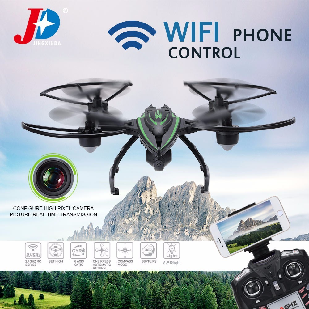 Original JXD 510W 2.4G 4CH 6-Axis Gyro Wifi FPV Quadcopter RC Drone With 0.3MP Camera One-key Return CF Mode 3D-flip High Hold with more battery original jjrc h12c drone 6 axis 4ch headless mode one key return rc quadcopter with 5mp camera in stock