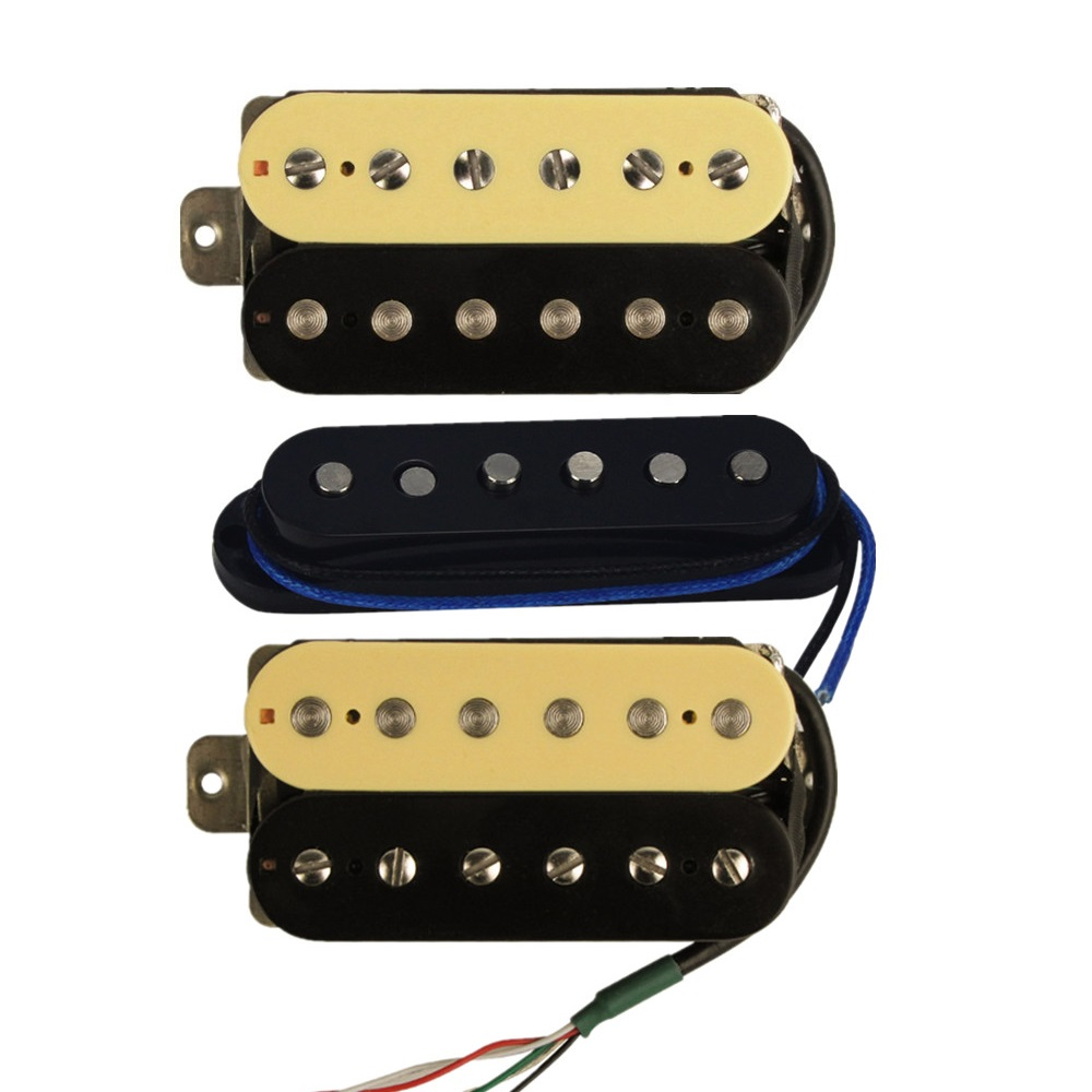 US $32 78 5% OFF|FLEOR 3PCS Alnico 5 Neck Middle Bridge Electric Guitar  Pickups Humbucker /Single Coil/ Humbucker Pickup Guitar Parts  Replacement-in