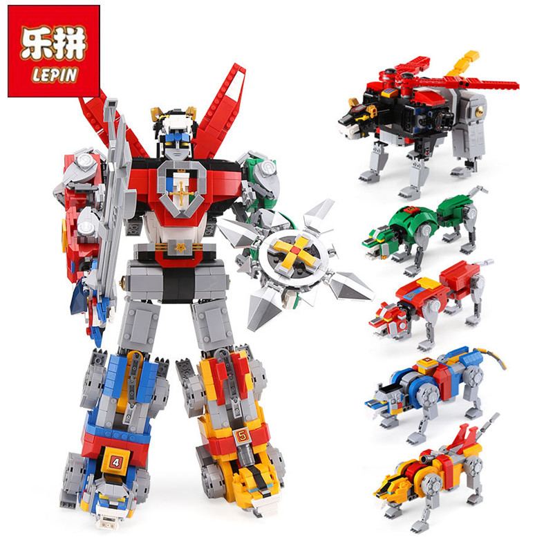 DHL Lepin 16057 New Robot Toys Movie Series The 21311 Voltroned Set Building Blocks Bricks New Kids Model Toys Christmas Gifts
