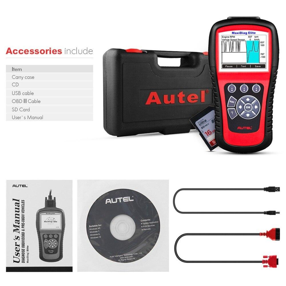 Image 5 - Autel MaxiDiag Elite MD802 OBD2 Scanner Car Diagnostic Tool Code Reader Engine ABS Airbag SRS Engine EPB Automotive Code Reader