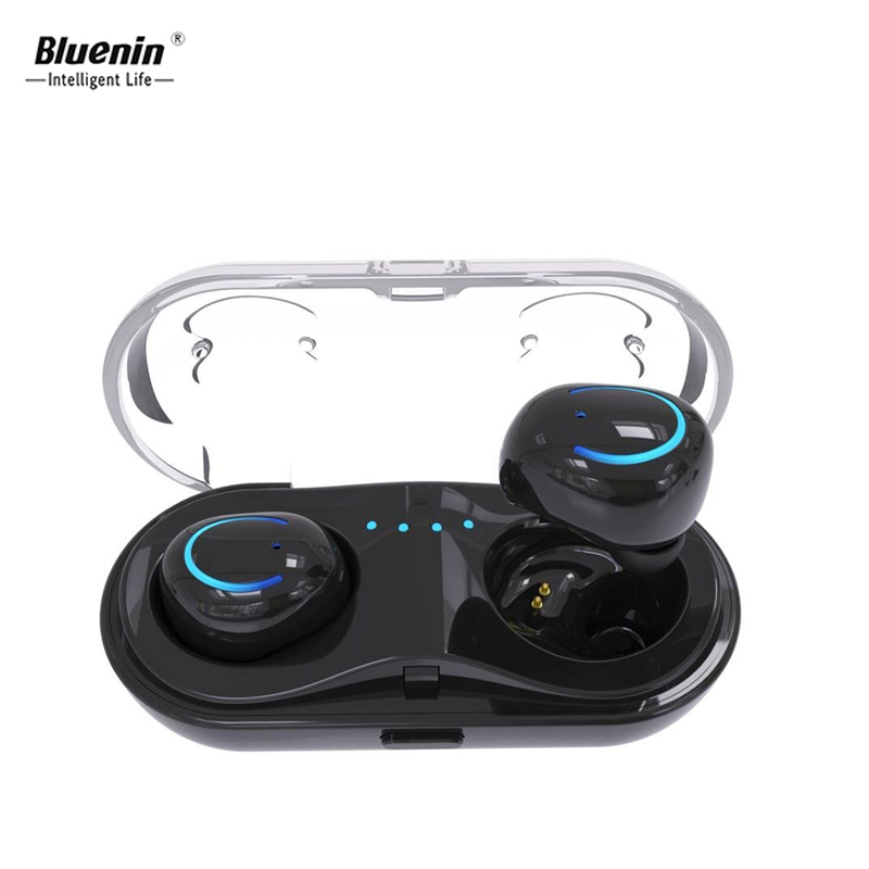 Bluenin Q18 TWS Blue tooth Earphone Mini Wireless Bluetooth Headphones With Charging Box Sport In Ear