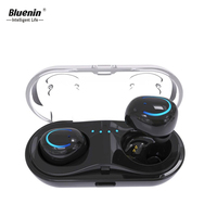 Bluenin Q18 TWS Blue tooth Earphone Mini Wireless Bluetooth Headphones With Charging Box Sport In Ear Earbuds for iphone x xaomi