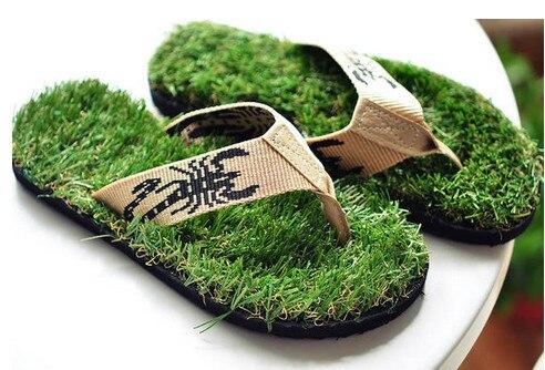 44e619ac342 New Arrival 2014 Kusa Grass Men s Flip Flops Outdoor Slippers Men Sandals  Sapatilhas Novelty Flats Summer Shoes Beach Sandals