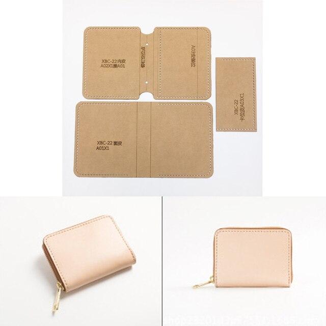 DIY Leather Craft women handbag wallet Key bag Storage Sewing ...