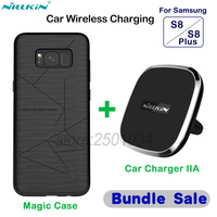 NILLKIN Car Magnetic Wireless Charger Pad Air Vent Mount Car Charger Magic Case For Samsung Galaxy