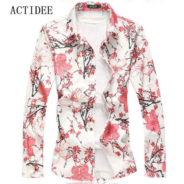 06c405154a3 2019 Flower Shirt Men Fashion Shirts High Quality Plus Size 7XL 6XL 3XL 4XL  5XL Floral Print Casual Shirts Men 40OFF