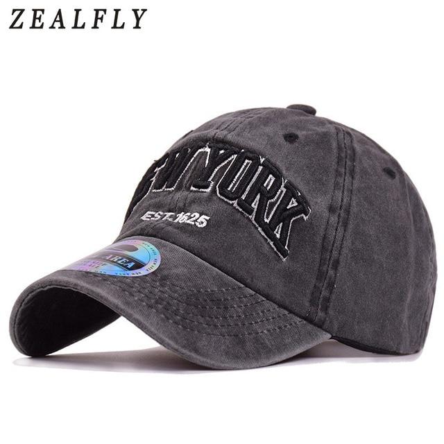 New York Baseball Cap 100% Katun Bordir Surat Wanita Topi Kasual Luar  Ruangan NY Pria 5622880dcd
