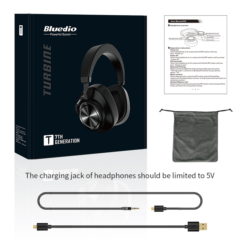 Closeout DealsBluedio Headphones Active Noise Music Cancelling for And with Face-Recognition User-Define