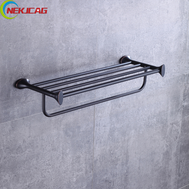 Oil Rubbed Bronze Towel Rack Br Shelf With Bar Holder For Bathroom