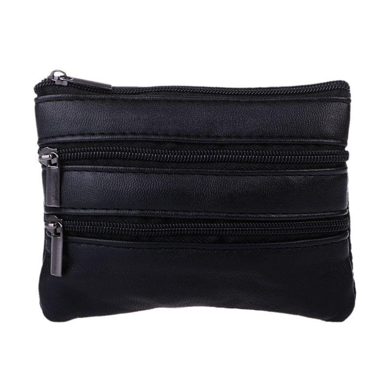 12x9cm Women Men Fashion Mini Purse Coin Card Key Ring Wallet Pouch Zipper Small Change Bag