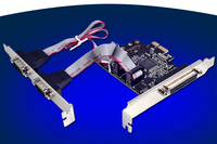 2 Port Serial RS232 1 Port Parallel PCI Express Expansion Card MCS9901 Chipset