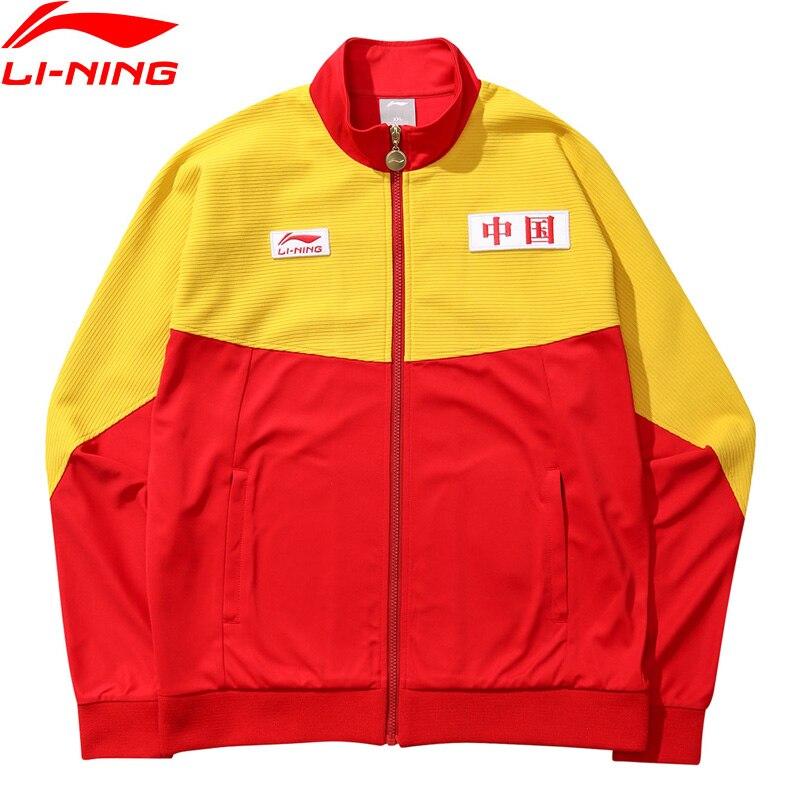 LiNing NYFW Unisex Basketball Series Vintage Coat CHINA LINING Loose Fit Printing LiNing Sport Jackets AWDN787 MWJ2526 цена