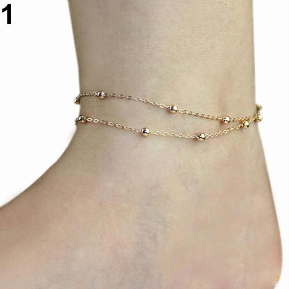 ผู้นำผีเสื้อหัวใจสร้อยข้อเท้าสตรีเซ็กซี่ชายหาด Sandal Barefoot ข้อเท้าเท้าเครื่องประดับ