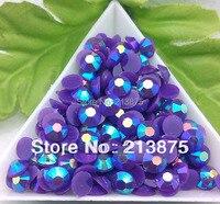 Gran cantidad al por mayor 30000 unids púrpura oscuro color mágico AB jalea 5mm resina pedrería Mobile estamos taladro Manicura SS20 0445 #