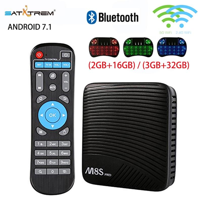 Mecool M8S Pro TV Box Smart Android 7.1 TV Box Amlogic S912 Dual WiFi BT4.1 2G/16G 3G/32G 4K HD Set Top Box i8 Keyboard Optional r tv box pro amlogic s912 android 6 0 4k tv box rii i8 black